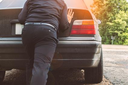 車を押す 画像